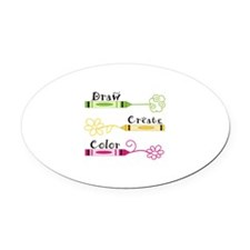DRAW CREATE COLOR Oval Car Magnet