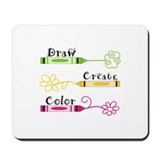 DRAW CREATE COLOR Mousepad