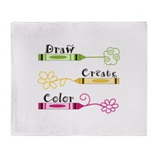 DRAW CREATE COLOR Throw Blanket