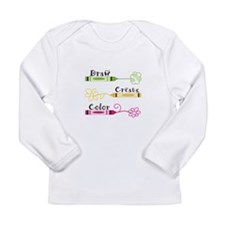 DRAW CREATE COLOR Long Sleeve T-Shirt