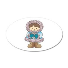ESKIMO WITH PENGUIN Wall Decal