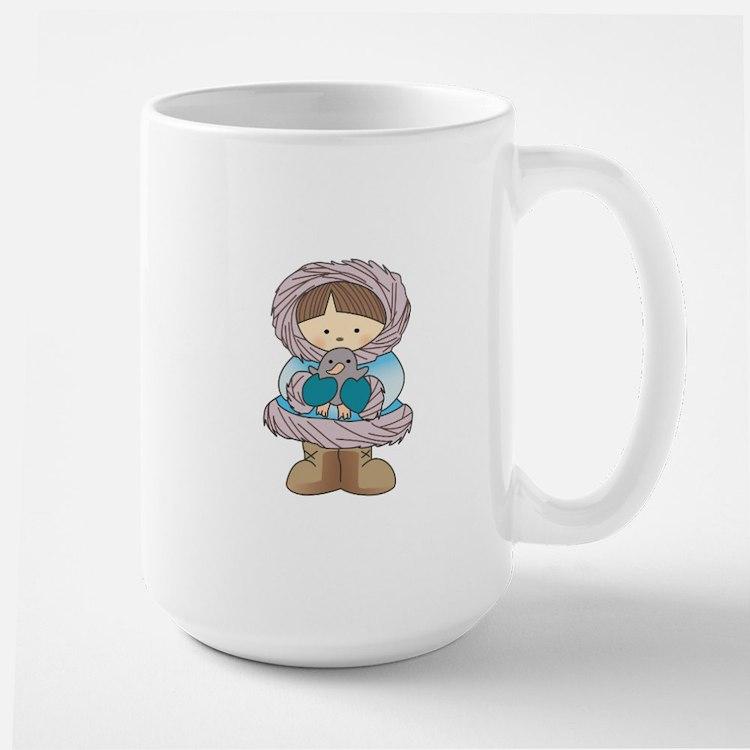ESKIMO WITH PENGUIN Mugs