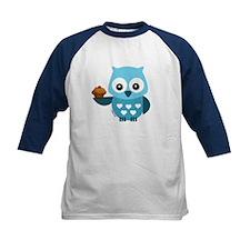 Pretty Blue Owl Baseball Jersey