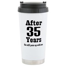 35th wedding anniversary Travel Mug