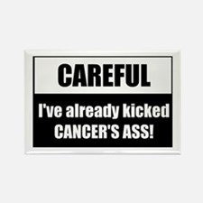 Kicked Cancer's Ass Rectangle Magnet