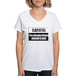 Kicked Cancer's Ass Women's V-Neck T-Shirt