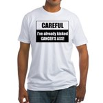 Kicked Cancer's Ass Fitted T-Shirt