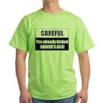 Kicked Cancer's Ass Green T-Shirt