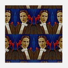 harry houdini devils red blue Tile Coaster
