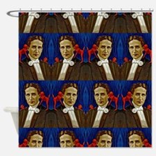 harry houdini devils red blue Shower Curtain