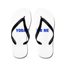 Yoda one for me-Akz blue 500 Flip Flops