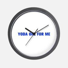 Yoda one for me-Akz blue 500 Wall Clock