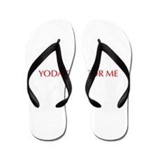 Yoda one for me-Opt red 550 Flip Flops