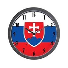 Flag of Slovakia Wall Clock