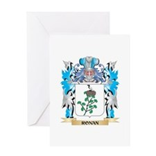 Ronan Coat of Arms - Family Crest Greeting Cards