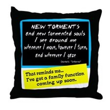 Dante's Family Function Throw Pillow