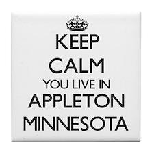Keep calm you live in Appleton Minnes Tile Coaster