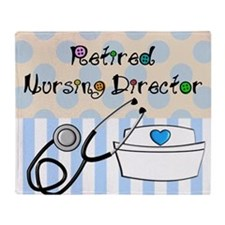 Retired Nursing Director Throw Blanket