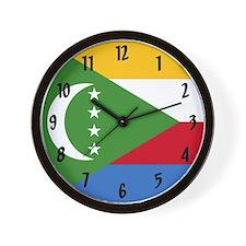 Flag of Comoros Wall Clock