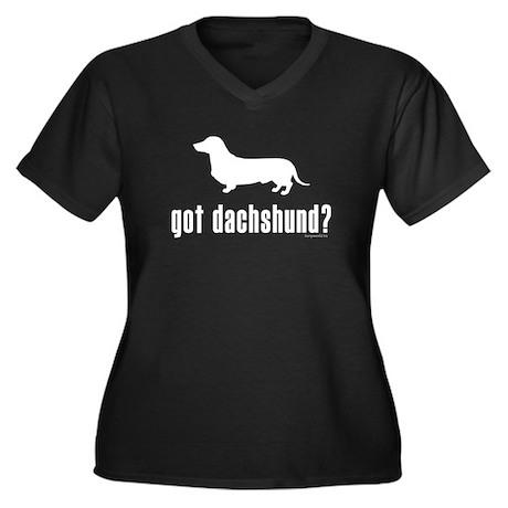 got dachshund? Women's Plus Size V-Neck Dark T-Shi