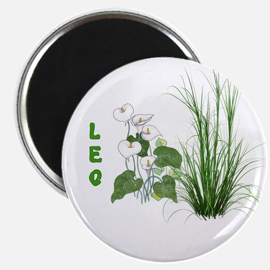 Bamboo and Lily Leo Magnet