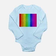 Rainbow colored stained glass Body Suit