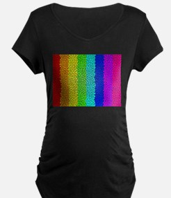 Rainbow colored stained glass Maternity T-Shirt
