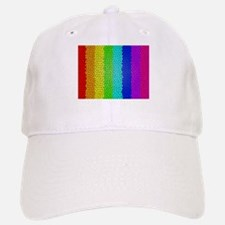 Rainbow colored stained glass Baseball Baseball Cap