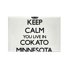 Keep calm you live in Cokato Minnesota Magnets