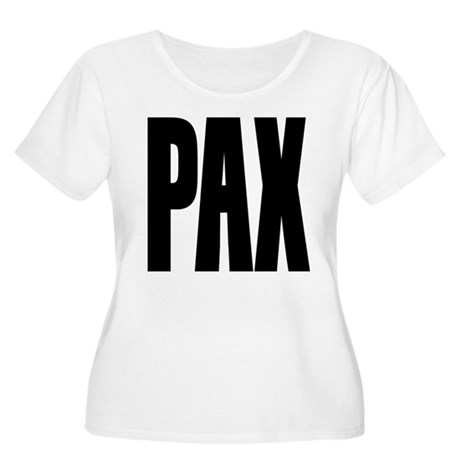 PAX Latin for Peace Women's Plus Size Scoop Neck T