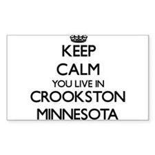 Keep calm you live in Crookston Minnesota Decal