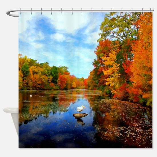 Fall Colors Shower Curtains CafePress - Autumn colours for the curtains