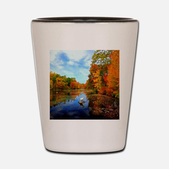Connecticut Fall Colors Shot Glass