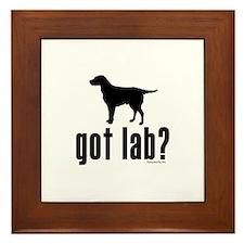 got lab? Framed Tile