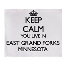 Keep calm you live in East Grand For Throw Blanket