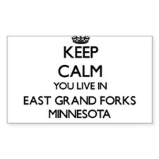 Keep calm you live in East Grand Forks Min Decal