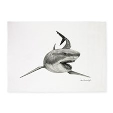 Great White Shark ~ 5'x7'area Rug