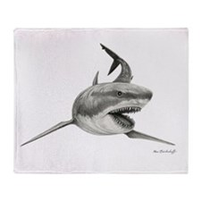 Great White Shark ~ Throw Blanket~2 Sides