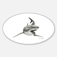 Great White Shark ~ Sticker (oval)