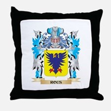 Rous Coat of Arms - Family Crest Throw Pillow