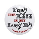 Friday the 13th Ornament (Round)