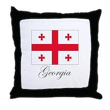 Georgia - Flag Throw Pillow