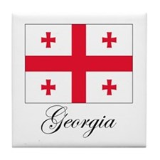 Georgia - Flag Tile Coaster