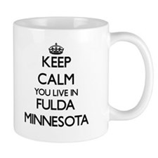 Keep calm you live in Fulda Minnesota Mugs