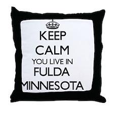 Keep calm you live in Fulda Minnesota Throw Pillow