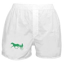 Green Harness Racing Boxer Shorts