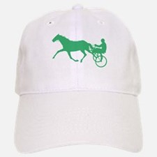 Green Harness Racing Baseball Cap