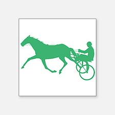 Green Harness Racing Sticker