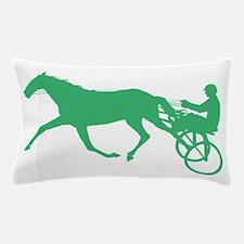 Green Harness Racing Pillow Case