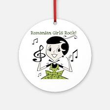 Romanian Girls Rock Ornament (Round)
